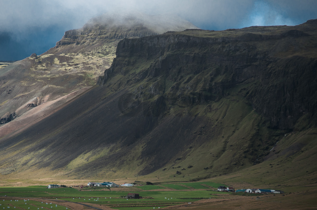 Farms under Mountains, Iceland